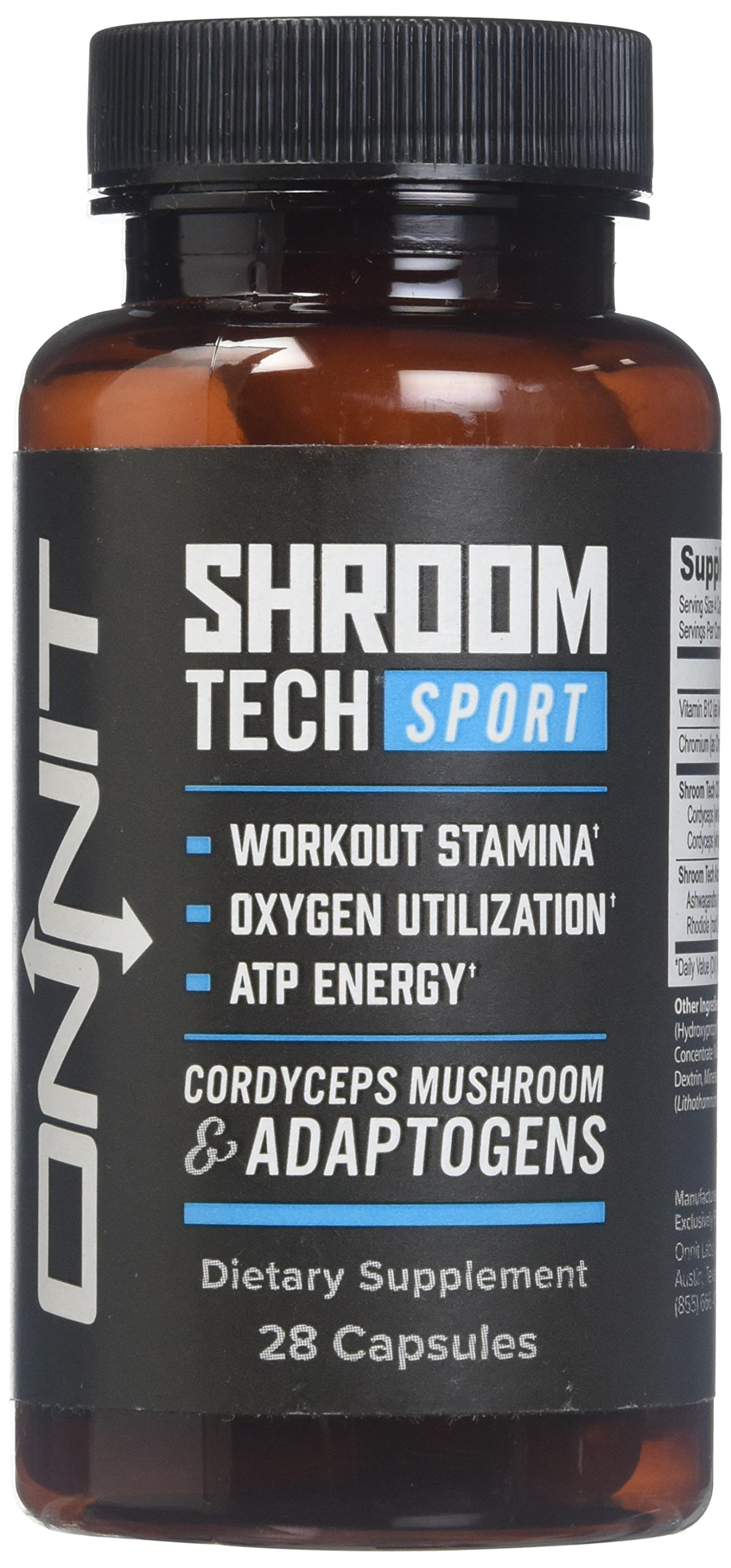 Onnit Shroom TECH Sport (28ct) | All Natural Pre-Workout Supplement with Ashwagandha, Cordyceps Mushroom, and Rhodiola Rosea