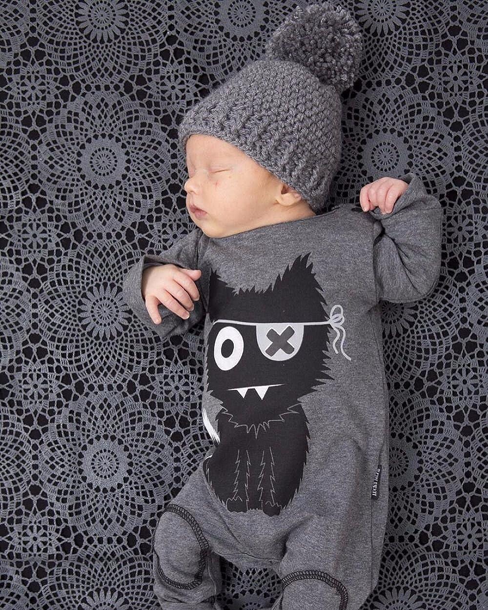 SAMGU Neonato Vestiti del Rgazzo della Ragazza Tuta a Maniche Lunghe Bambino Pagliaccetto