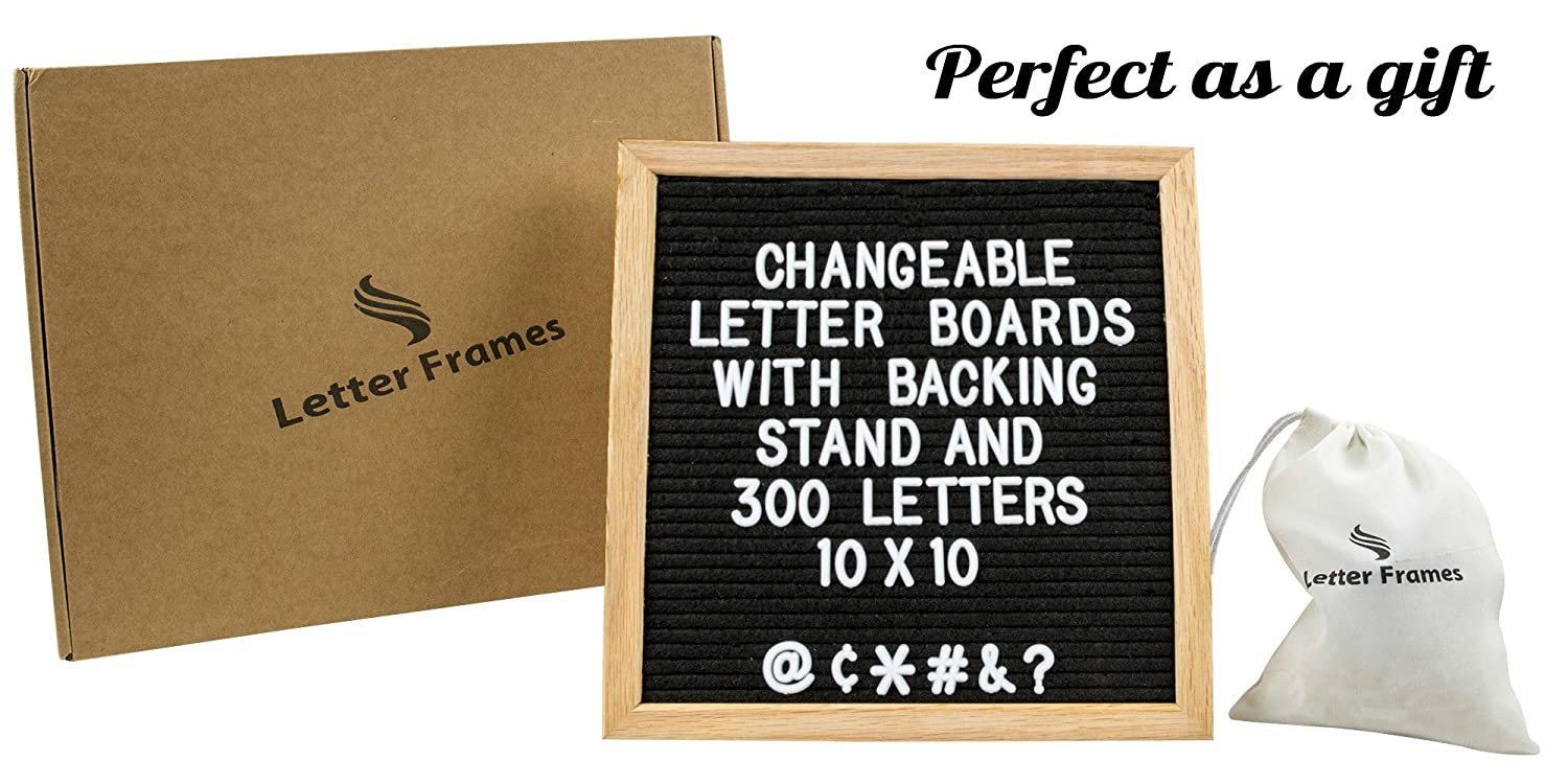 Amazon.com : Changeable Black Felt Letter Board with Stand 10x10 ...