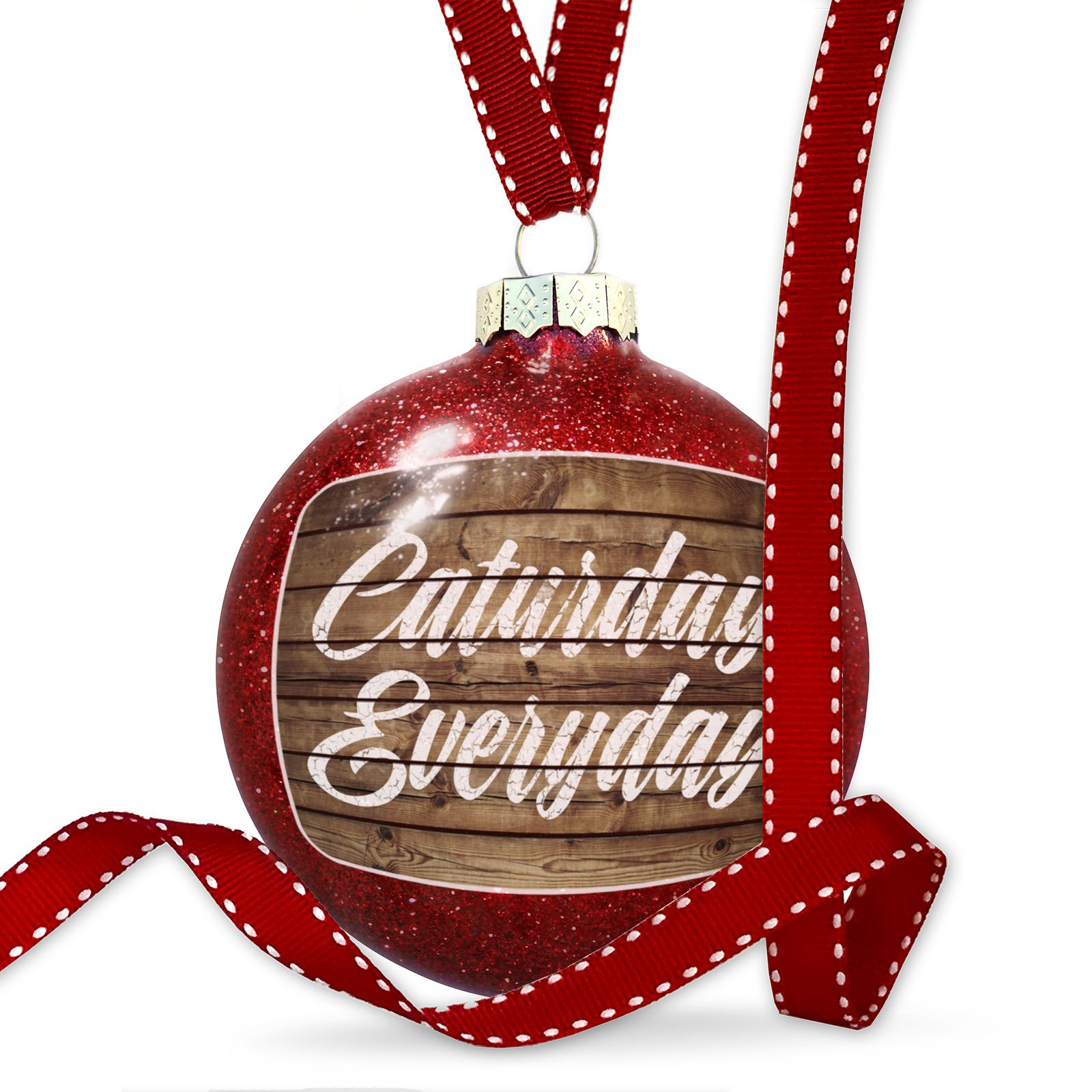 Christmas Decoration Painted Wood Caturday Everyday Ornament