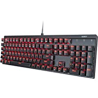 Deals on AUKEY Mechanical Keyboard Red Switch Gaming Keyboard KM-G6R