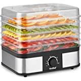 VonShef 5 Tier Food Dehydrator - Large Stainless Steel Food Dryer With Adjustable Temperature Control – Great For Creating Healthy Snacks