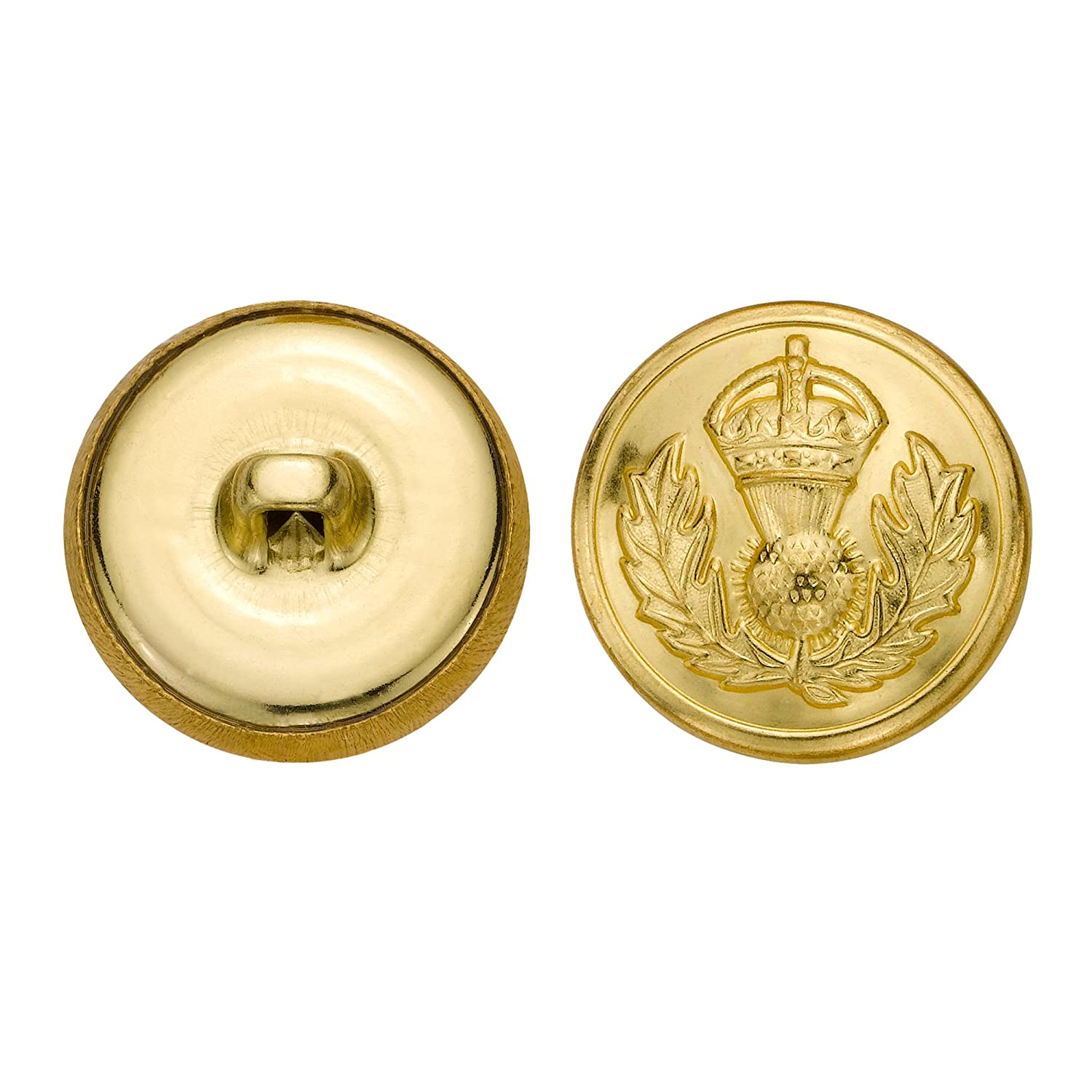 Size 33 Ligne C/&C Metal Products 5296 Crown Crest Metal Button 36-Pack C/&C Metal Products Corp Gold