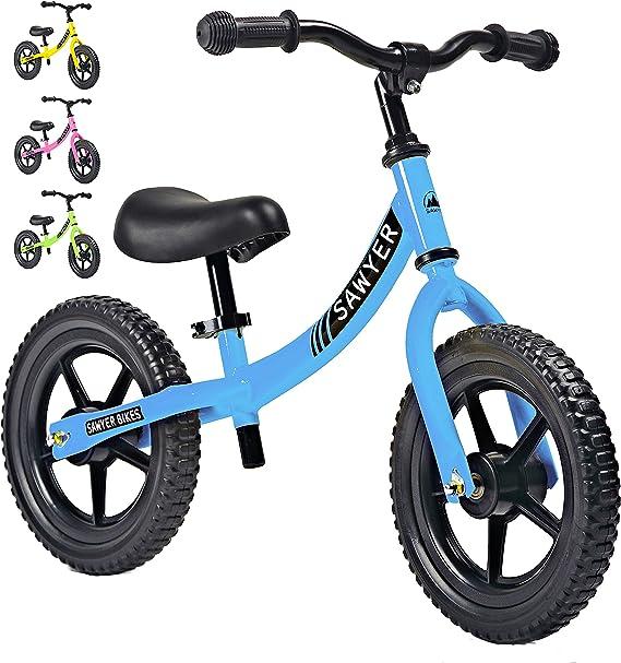 Sawyer - Bicicleta Sin Pedales Ultraligera - Niños 2, 3 y 4 Años (Azul): Amazon.es: Juguetes y juegos