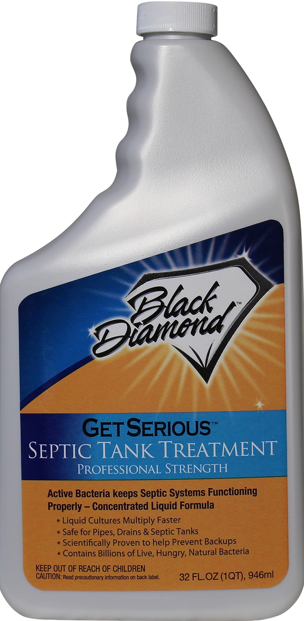 GET SERIOUS Septic Tank Treatment Liquid Natural Enzymes For Residential, Commercial, Industrial, RV's Systems. 32 ounces. (1, quart)