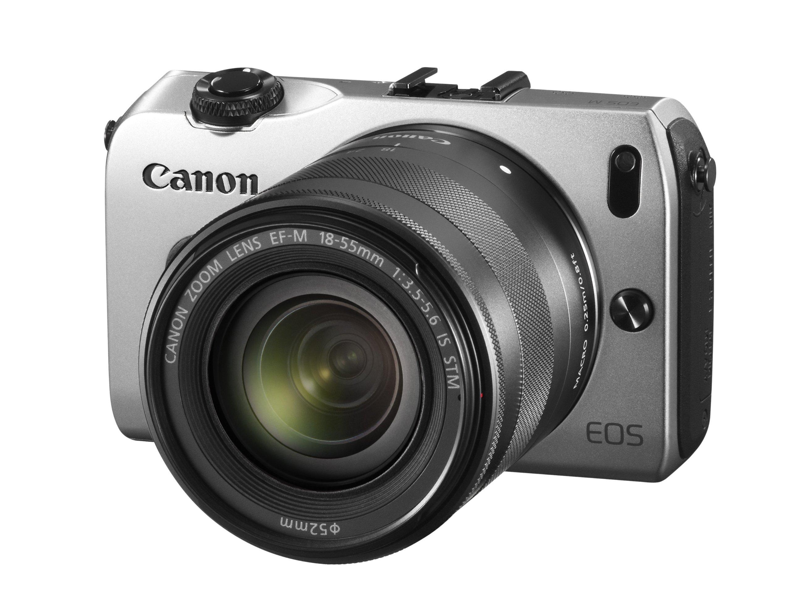 Canon EOS M Fotocamera con Obiettivo EF-M 18-55 mm IS STM e Flash Speedlite 90EX, Argento product image