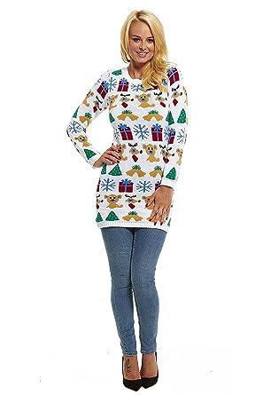 New Womens Xmas Christmas Classic Novelty Fairisle Retro Pullover ...