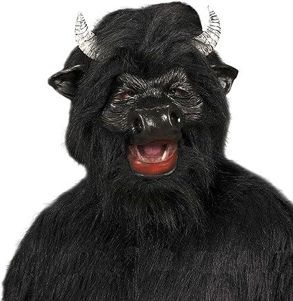 WIDMANN Máscara de toro de peluche, negro: Amazon.es: Juguetes y juegos