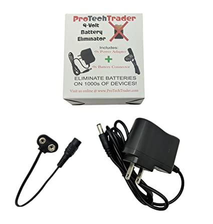 9v Battery Eliminator (9v DC Adapter & Battery Eliminator) - Replace Your  9-Volt Batteries with Wall Power Supply
