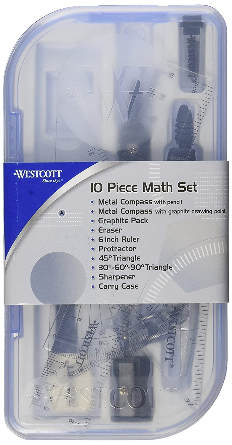 Westcott 10 Piece Math Set