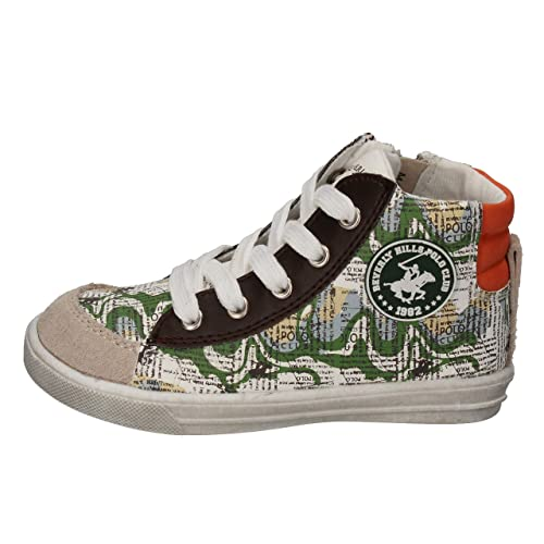 BEVERLY HILLS POLO CLUB Sneakers Niños Cuero Verde 20 EU: Amazon ...