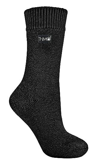 THMO - Mujer Invierno Nieve Calcetines Termicos sin Costuras (37/42, 25 Black