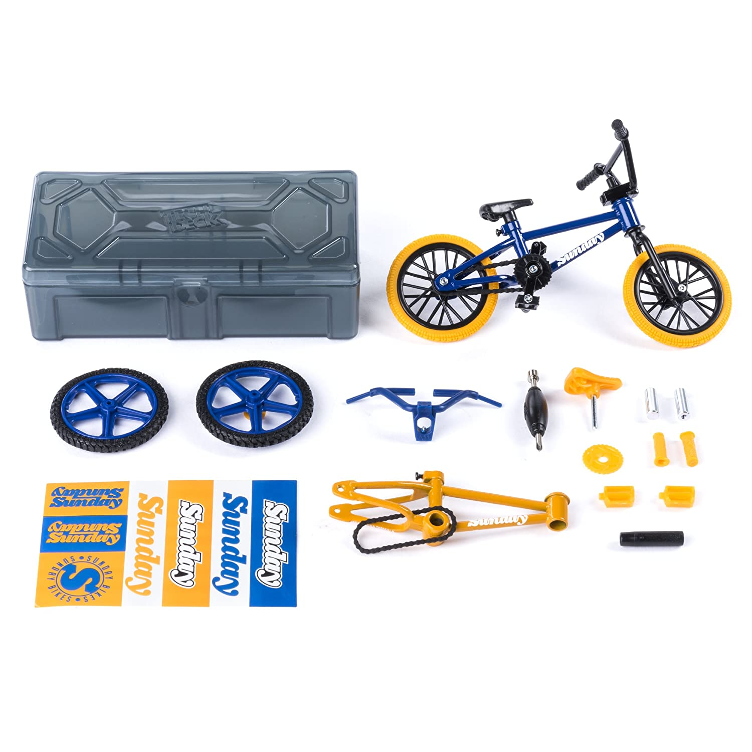 Tech Deck – BMX Bike Shop with Accessories and Storage Container – Sunday Bikes – Blue Yellow