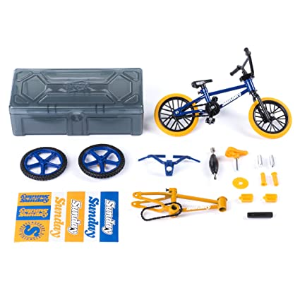 Tech Deck – BMX Bike Shop with Accessories and Storage Container – Sunday  Bikes – Blue & Yellow