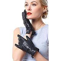 NappaNovum Women's Italian Leather Gloves Lambskin Winter Comfort Gloves (Touchscreen or Non-Touchscreen)
