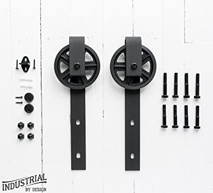 Amazoncom Industrial By Design Big Wheel Sliding Barn Door