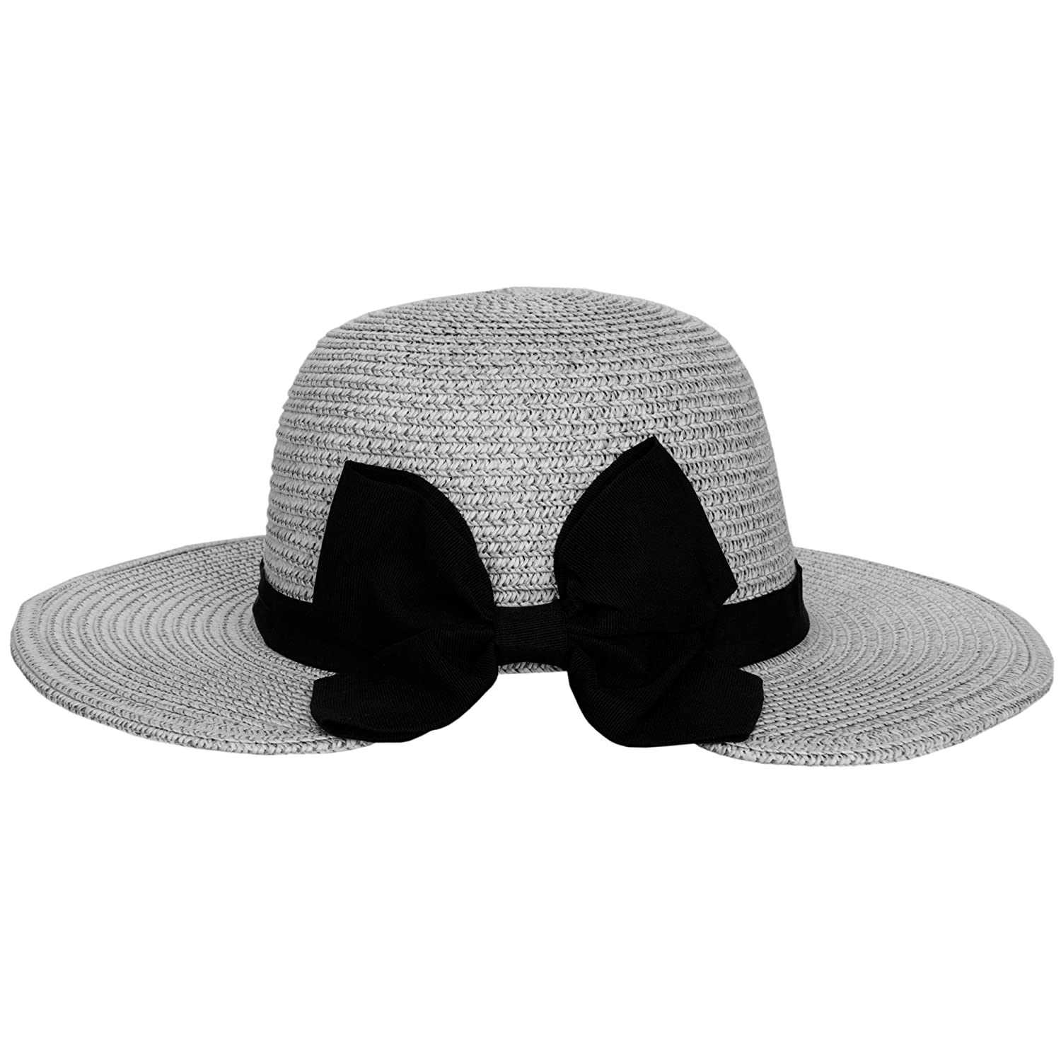 333753d13 Amazon.com: Aerusi Women's (Grey) Mrs. Anderson Straw Hat Floppy ...