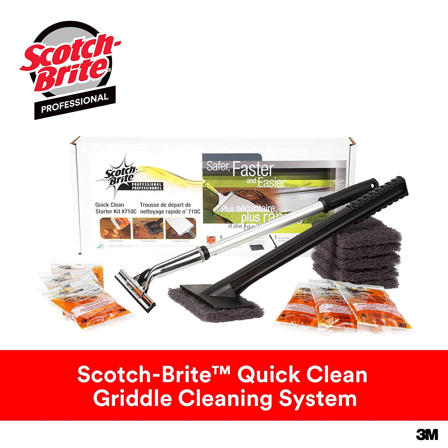 3M Grill, Griddle and Fryer Cleaners Scotch-Brite Quick Clean Griddle System Starter Kit