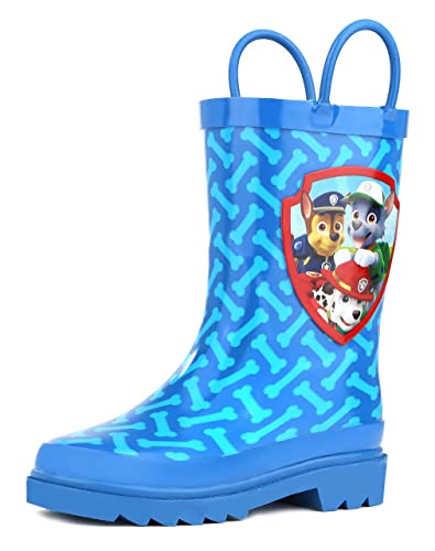6b82660304f Nickelodeon Kids Boys' Paw Patrol Character Printed Waterproof Easy-On  Rubber Rain Boots (Toddler/Little Kids)