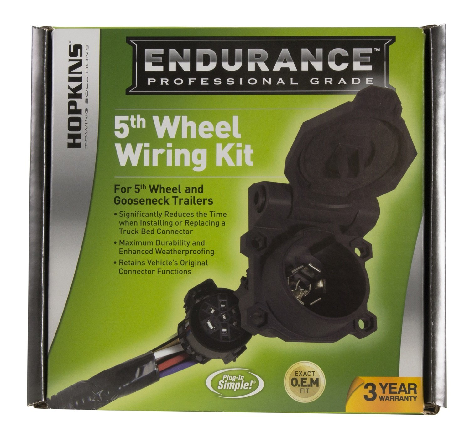 Hopkins 41157 Endurance 5th Wheel Wiring Kit Automotive 2015 Gm 7 Pin Trailer