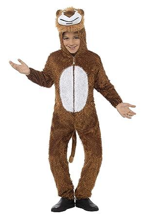 Smiffys Disfraz de león, marrón, incluye enterizo con capucha