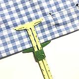 BIGTEDDY - 5in1 Handy Sliding Sewing Gauge Quilting Tools for Beginner Work as T-Gauge, Hem Gauge, Seam Allowance, Buttonhole