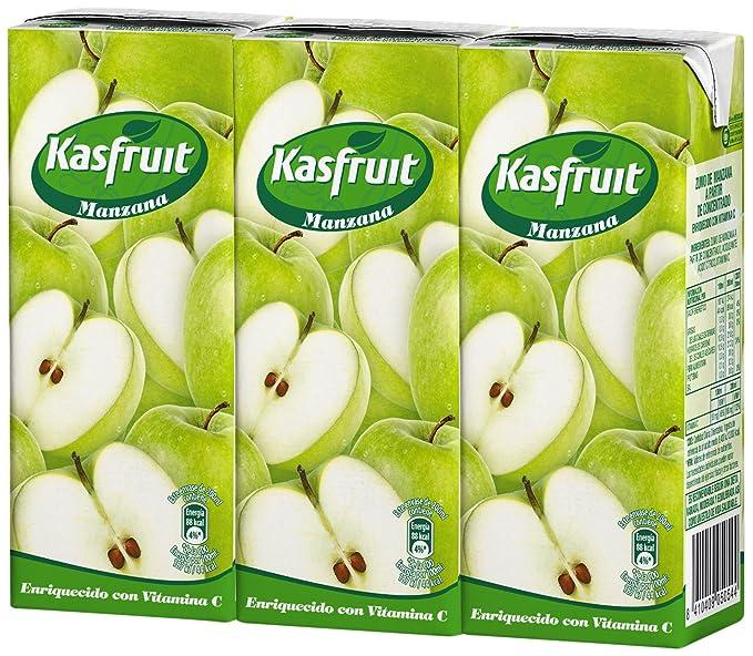 Kas Néctar de Manzana a Partir de Concentrado con Edulcorantes y Vitaminas - Paquete de 3
