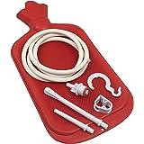 Health&Balance Enema Bag Kit - Open fountain top (2 quart) - Silicone Tubing, Tip & Suspension Clip - Hygienic Sterile Enema