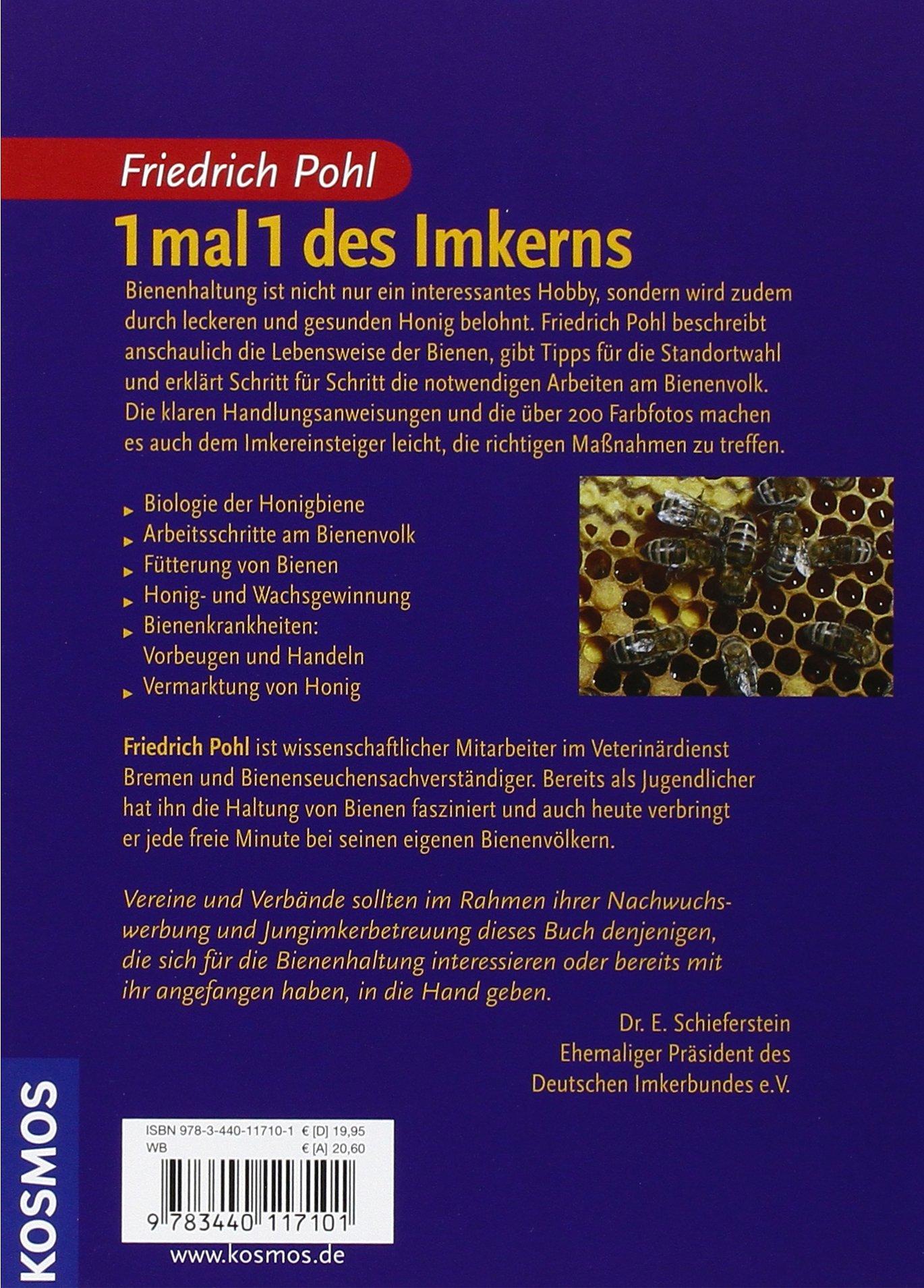 1 mal 1 des Imkerns: Amazon.de: Friedrich Pohl: Bücher