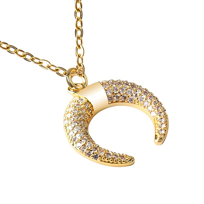 Amazon com: Moon Necklace for Women, Crescent Moon Necklaces