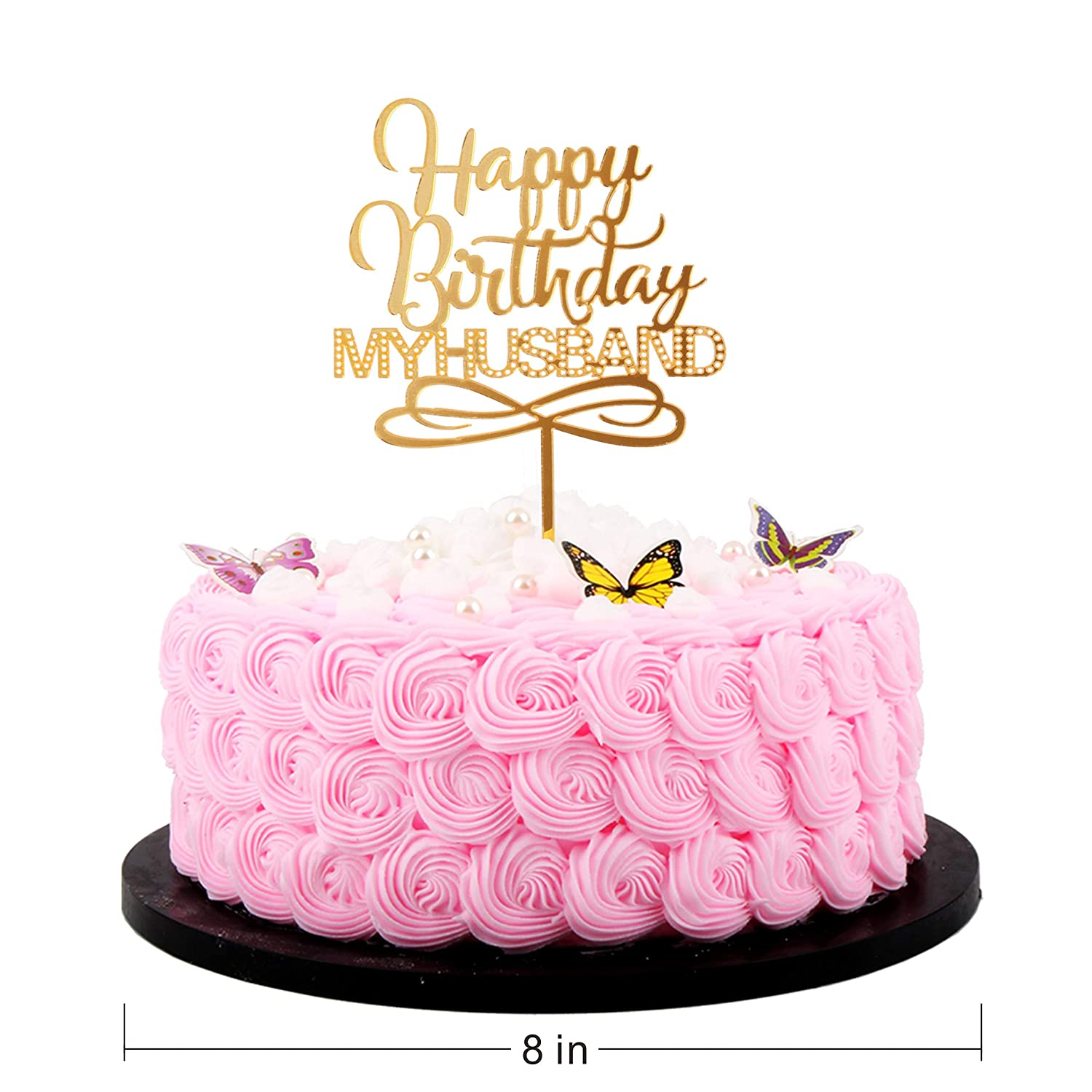 Strange Artczlay Happy Birthday Cake Topper Husband Happy Birthday Cake Personalised Birthday Cards Veneteletsinfo