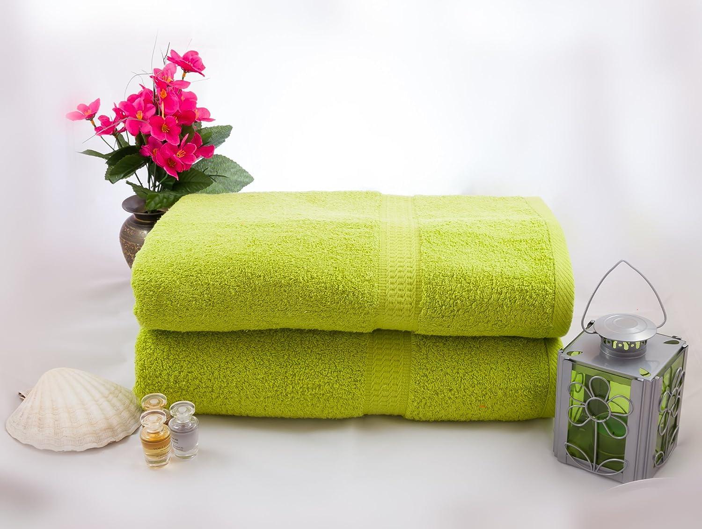 Set Asciugamano 2/pezzi mueskaan Premium asciugamani 50/x 100/cm in mela verde qualit/à 500/G//M/²