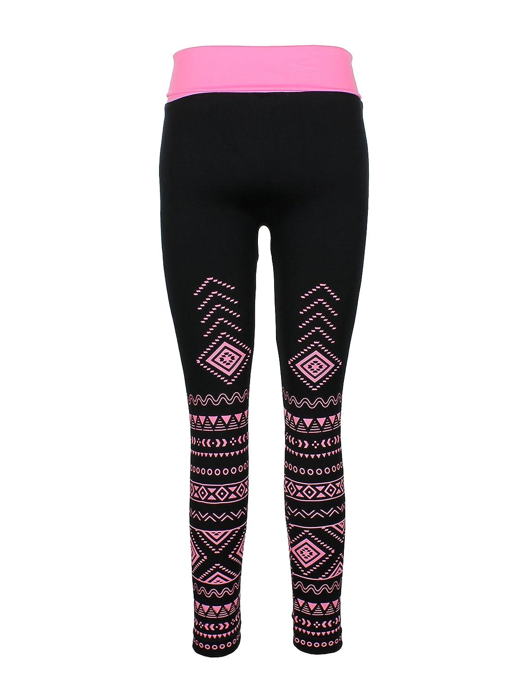 Crush Girls High-Waist Fold-Over Seamless Active Wear Leggings 27511-P716