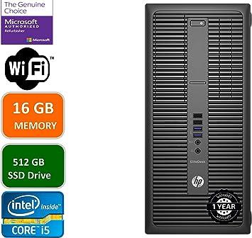 HP EliteDesk 800 G2 Mini Business Desktop PC Intel Quad-Core i7-6700T up to 3.1G,16G DDR4,512GB SSD,VGA,DP Port,Windows 10 Professional 64 Bit-Multi-Language-English//Spanish Renewed