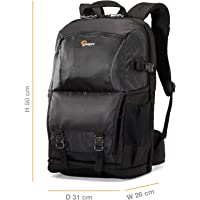 Lowepro Fastpack Bp 250 AW II, Travel-Ready Backpack Designed to Fit A DSLR, 2-3 Extra Lenses, A 15 Inch Laptop, Tablet and Space for Your Personal Gear, Black, (LP36869-PWW)