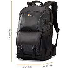 "Lowepro Fastpack BP 250 AW II - A Travel-Ready Backpack for DSLR and 15"" Laptop and Tablet"