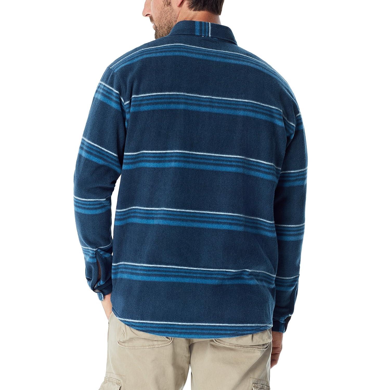 Wrangler Mens Big /& Tall Long Sleeve Plaid Fleece Shirt