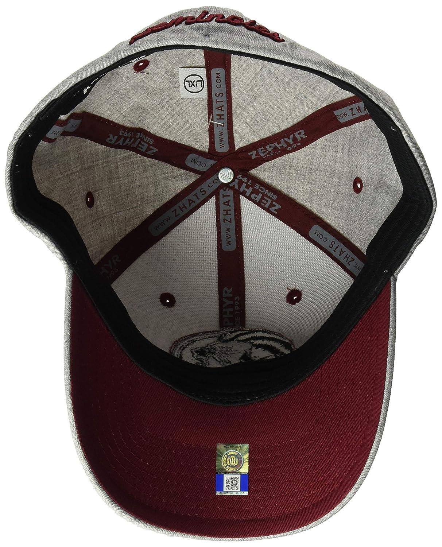 Grey Medium//Large NCAA Zephyr Florida State Seminoles Mens Tailored Stretch Hat