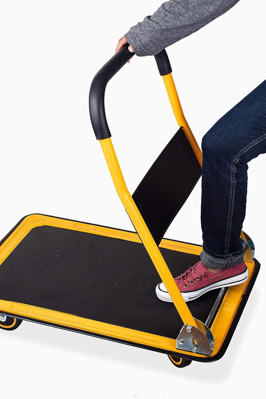 660 lb. Weight Capacity with Swivel Wheels Renewed MaxWorks 80877 35.85 x 24 x 34.25 Foldable Platform Truck Push Dolly