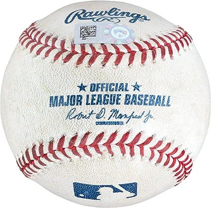 e96fca961 Justin Turner Los Angeles Dodgers Game-Used Single Baseball vs ...