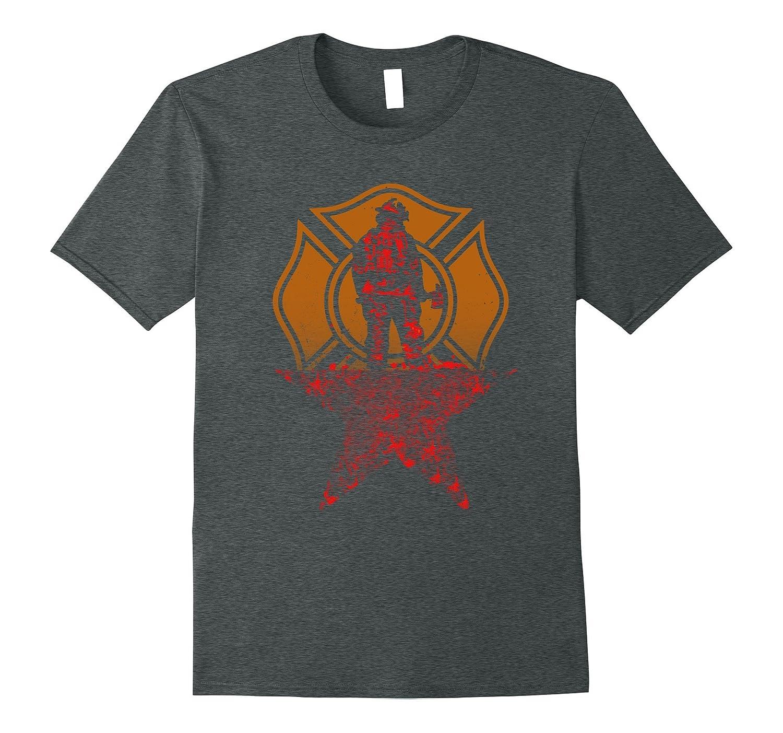 American Firefighter Funny Hamilton Style T-shirt gift Idea