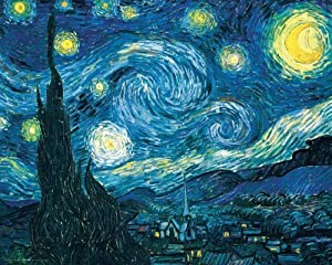 DIY 5D Diamond Painting Kits for Adults Full Drill Diamond Painting Starry Night Van Gogh Impressionism for Home Wall Decor 30x40cm