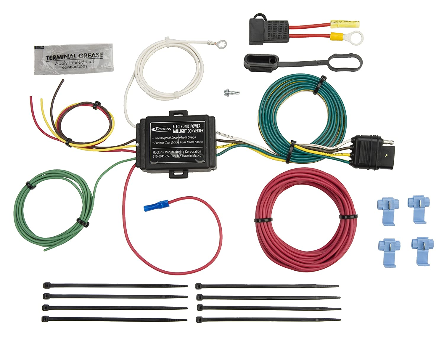 Hopkins 46255 Power Taillight Converter Automotive Trailer Wiring 5 Wire Diagram
