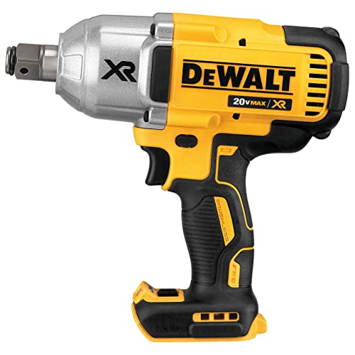 DEWALT 20V MAX XR Cordless Impact Wrench with Hog Ring Pin Anvil, 3 4-Inch , Tool Only DCF897B