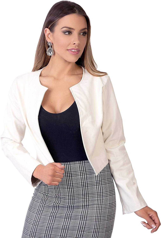 KRISP Bolero Elegante Mujer Fiesta Torera Talla Grande Manga Larga Joven Chaqueta Corta Boda Formal Vestir