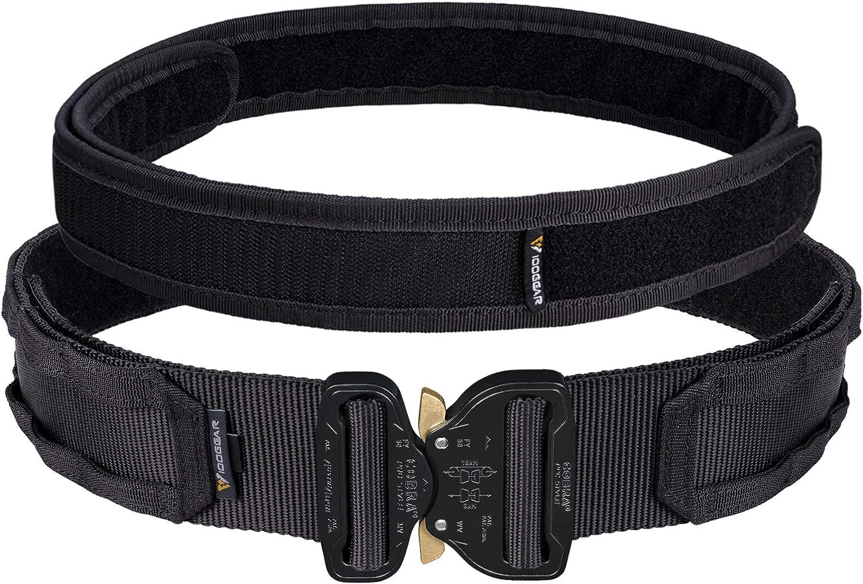 Amazon Com Idogear 2 Cobra Buckle Tactical Belt Quick Release Molle Riggers Belt With Inner Belt Set Clothing