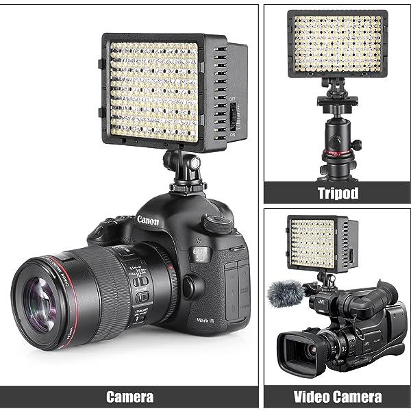 NEEWER - KIT DE LUZ LED DE VIDEO CON SOPORTE DE LUZ DE 74.8 IN, 2 unidades regulables 3200 K 5500 K 160 LED, kit de iluminación para panel de luz de fotos con funda de transporte grande, cargador de baterías para estudio de fotografía de YouTube