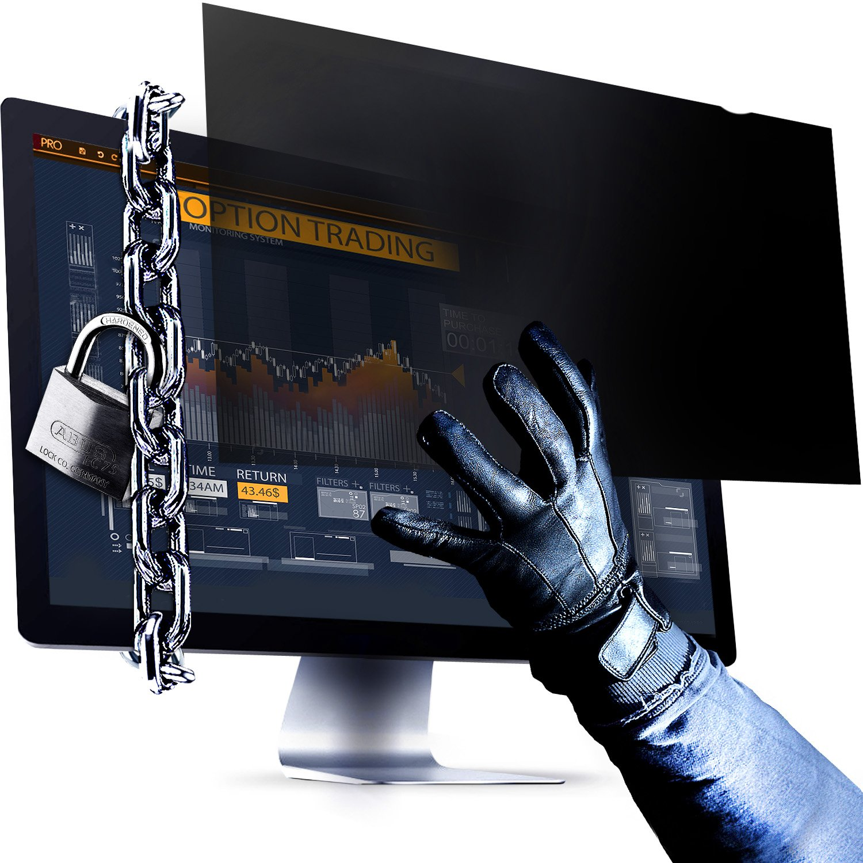 23.8 Inch Computer Privacy Screen Filter - 16:9 Aspect Ratio - for Widescreen Computer Monitor - Anti-Glare - Anti-Scratch Protector Film for Data Confidentiality - PLEASE MEASURE CAREFULLY!