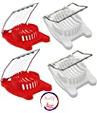 (Set of 4) Kitchen Egg Cutter, Plastic Mushroom Slicer, Garnish Slicer