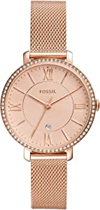 Fossil Women's Quartz Watch analog Display and Stainless Steel Strap, ES4628